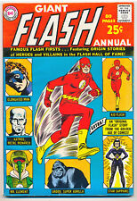 GIANT FLASH ANNUAL NO. 1 1963 SILVER & GOLDEN-AGE FLASH GREAT CONDITION!