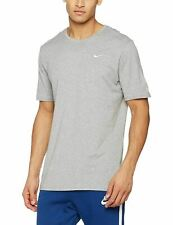 Nike Fundamental Short Sleeve T Shirt Mens Lightweight Gym Top All Sizes S-xxl Grey 2xl