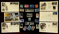 US C76 Space FDC Stamp Moon Landing JFK NASA Science STEM History Collection JFK