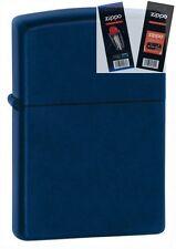Zippo 239 navy blue matte Lighter with *FLINT & WICK GIFT SET*