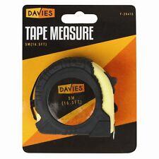 5m Tape Measure DIY Metric Non Slip Rubber Case Lockable Belt Clip Fast Use