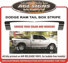 DODGE RAM CUSTOM BOX STRIPE TAIL STRIPE HOCKEY STICK