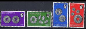 Dominica - 1972 - Sc 333 - 36 - Coins VF MNH
