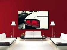 LEINWAND BILD XXL POP ART AUDI R8 HECKLEUCHTE AUTO ABSTRAKT BUNT S/W BIS 150x90