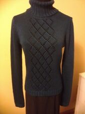 KennethCole NY ForestGreen Knitted Sweater TurtleNeck LongSleeves Pullon Sz M