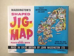 Scandinavia - Waddingtons Jig-Map Vari-Piece Shaped Puzzle. A Rare Vintage Item.
