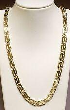 """10kt solid gold handmade link men's necklace  18""""  9.25 MM  48 grams"""