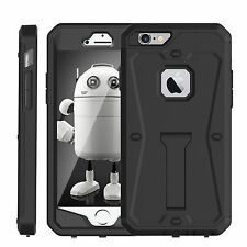 iPhone 6S Case Hybrid Shockproof Hard Heavy Duty iPhone 6 Stand Cover Built Film