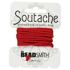 Beadsmith soutache Rayon Cord 3Mm WIDE-Poinsettia 3 iarde (F39 / 3)
