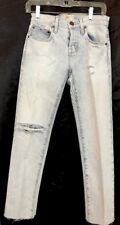 """Current Elliott Jeans The Cross Over. Light Wash Size 23"""" NWT $248 Destroyed"""
