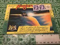 1960 Souvenir Of Niagara Falls Post Card Booklet Folder FREE SHIPPING