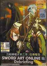 SWORD ART ONLINE 2 ソードアート・オンライン: DEBRIEFING JAPANESE ANIME DVD + FREE SHIPPING