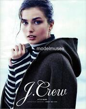 J. CREW Catalog October 2014 ANDREEA DIACONU Kasia Struss WILL CHALKER