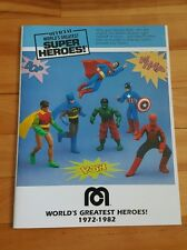 Official World's greatest super heroes mego book