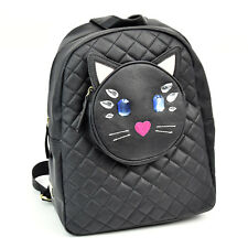 72ace8f9e563 LUV BETSEY by BETSEY JOHNSON black kitty cat backpack with gems NWT