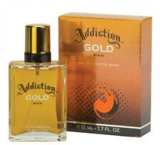 2 x Men's Addiction Gold Eau De Toilette 50ml Spray 50ml Fragrance Boxed
