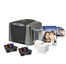 FARGO DTC1250e Single Side Photo ID Card Printer Bundle
