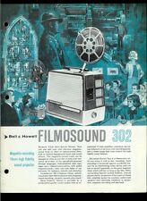 Rare Vintage Factory Bell & Howell Filmosound 302 Projector Dealer Brochure
