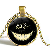CHESHIRE CAT NECKLACE We're All Mad Here Jewellery Gift Idea Alice in Wonderland