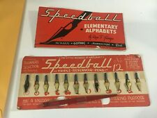 Vtg Speedball Pen Nib Set No. 12 Artist Set lettering drawing Calligraphy Hunt