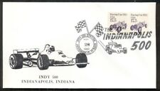 INDIANAPOLIS 500 special cover w/RACE CAR and CHECKERED FLAGS