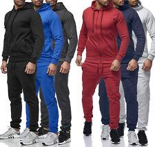 Jogginganzug Sportanzug Trainingsanzug Fitness Hose Hoodie einfarbig Herren
