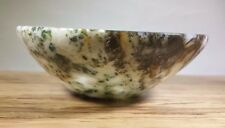 """LARGE 3"""" NATURAL TREE AGATE STONE HANDCARVED GEMSTONE BOWL [2]"""