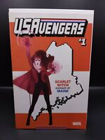 US AVENGERS 1 SCARLET WITCH MAINE STATE VARIANT NM WandaVision MCU