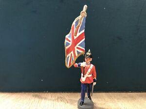 Elastolin: Rare British Army Flag Bearer. Pre War. 70mm Scale