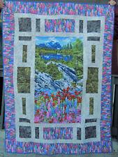 Mountain Scene lap quilt