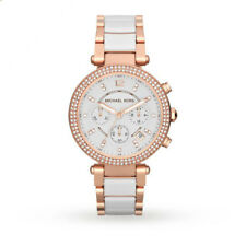 BRAND NEW Michael Kors Parker Chronograph White Rose Gold Womens Watch MK5774