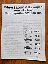 1972 Vw Volkswagen Bug Ad Why a $2000 Vw Costs a Lot Less than any Other Car