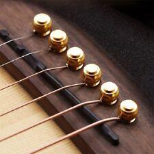 6pcs Acoustic Guitar String Bridge Pins Solid Copper Brass End Pegs UK NEW
