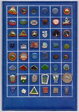 PIN badge  ALPINISM HIKING MOUNTAINEERING - 48 PINS ON TABLE YUGOSLAVIA
