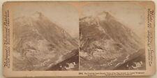 Switzerland Zermatt Visp Welsshorn Photo Stereo Vintage Albumin 1901
