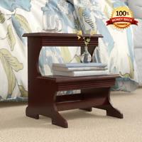 Modern Wooden Bed Steps Ladder Bedroom Furniture High Bed 2-Step Stool