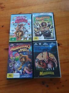 Madagascar DVDs x 4