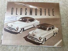 oldsmobile 98 new rocket engine c1951 brochure