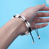 Charm Natural Sea Shell Bracelet Hand Knit Men Women Shell Bracelet Handmade
