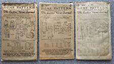 "Original Vintage 1920s sewing patterns- Lot of 3- Women's, 36"" bust"