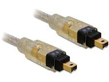 Delock 3m FireWire A Anschlusskabel Verbindungskabel Kabel IEEE 1394 4pin / 4pin