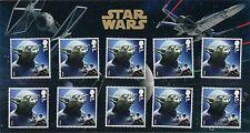 Star Wars - Maestro Yoda - MINI FOLDER con 10 francobolli Gran Bretagna 2015