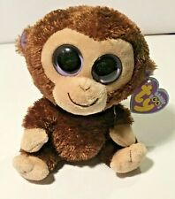 Ty Beanie Boos Monkey Coconut 15 cm **FREE SHIPPING** (Brand New With Tags)