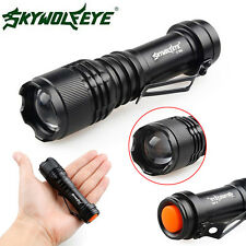 6000lm Mini XPE Q5 3Modes LED tactique Zoomable lampe de poche torche Flashlight