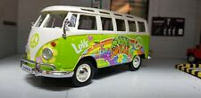 VW Split Screen T1 Camper Hippie Green Van Maisto 1:25/24 Scale Diecast Model