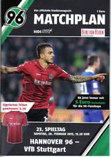 Programm Stadionheft 14/15 Hannover 96 VfB Stuttgart HSV Sammler
