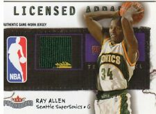 2003-04 Fleer Patchworks Licensed Apparel Basketball Card #Ra Ray Allen Jsy/300