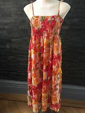 Butler And Wilson QVC Silk Multi Coloured Dress Size Small