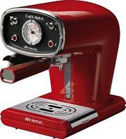 Ariete 1388/31 Retro Espresso Coffee Machine 1 Liter Water Tank 15 bar Red Vino