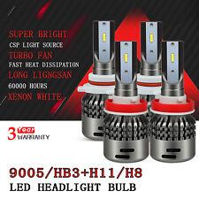 AUXITO 9005 + H11 LED Headlight High Low beam bulb 6000k Xenon White car lamp D5